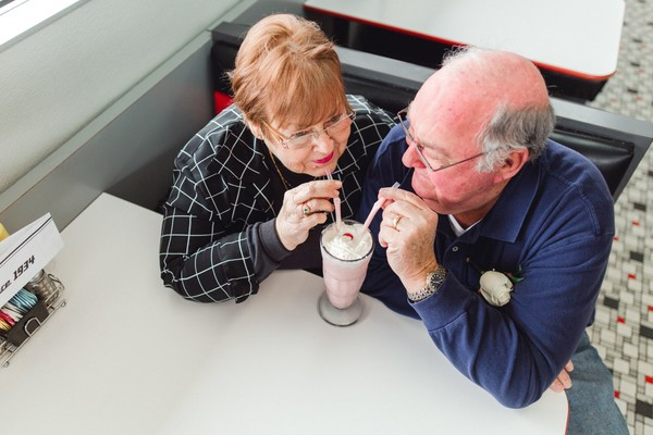 Couple Celebrates 55 Years Married With Shakes Not Cake