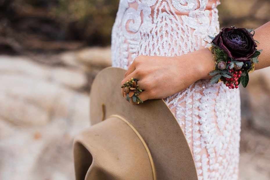 boho bridal floral accessories