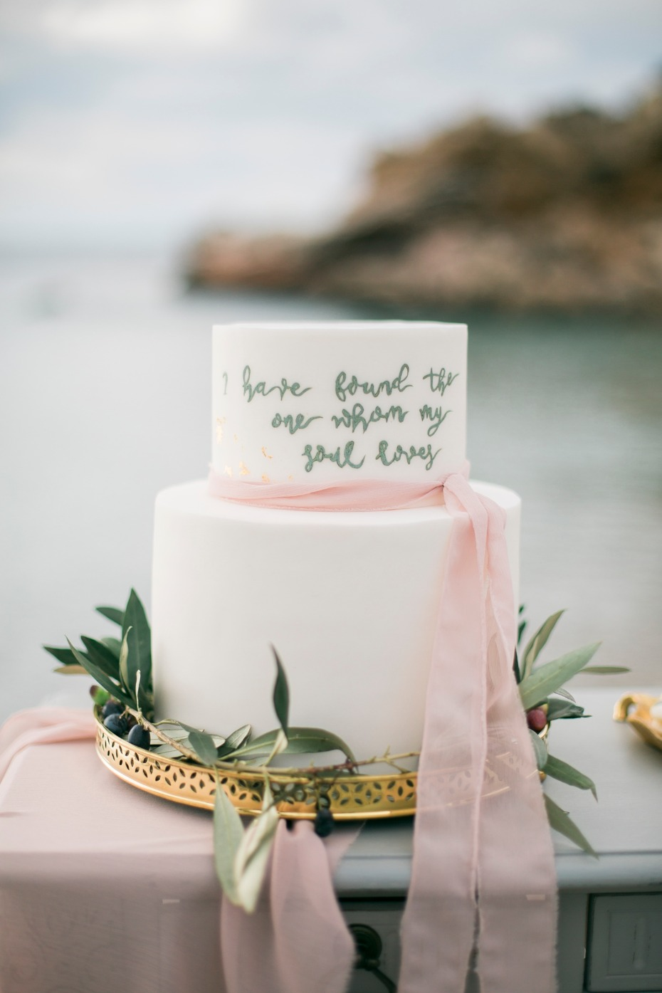 Love quote wedding cake