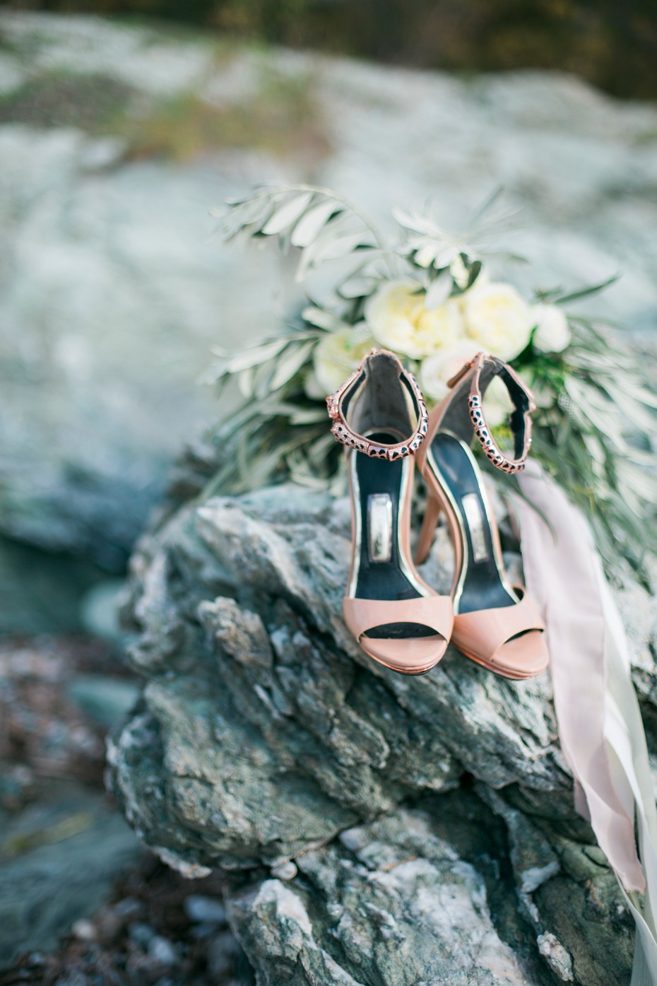 Stylish bridal heels