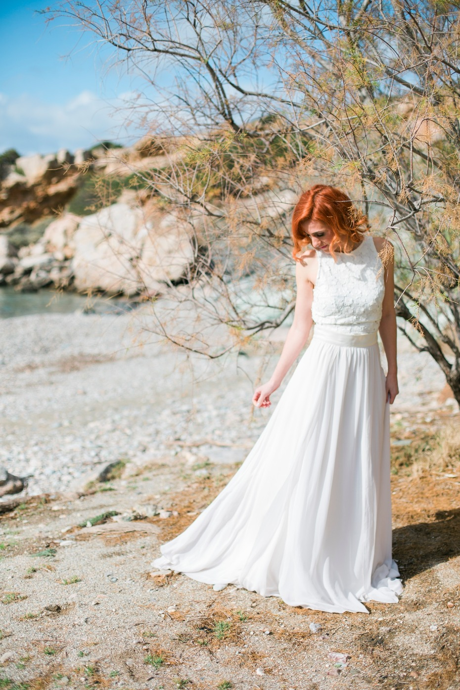 Beachy wedding dress