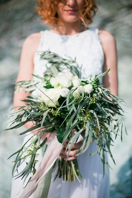 Elegant Meets Organic by the Sea Wedding Inspiration in Greece