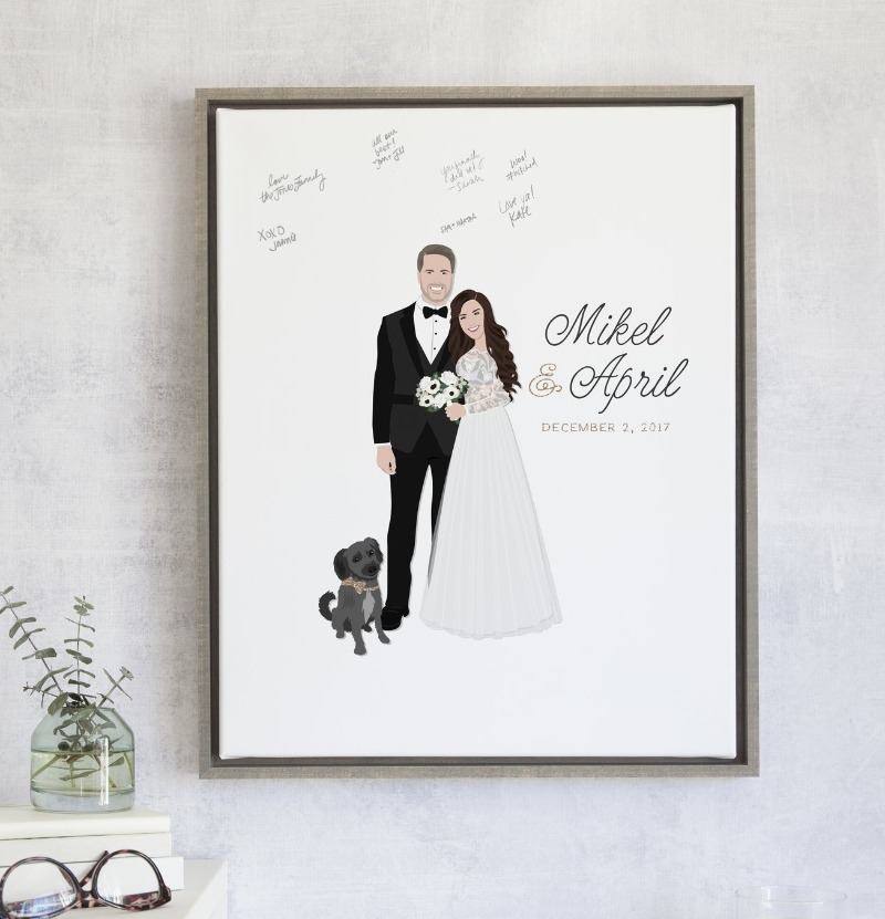 We have framed canvases... I repeat ... We have framed canvases! Miss Design Berry can create the perfect guest book alternative canvas
