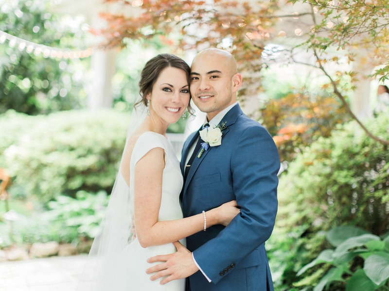 Jessica and Chad's Nashville garden wedding is a Rhapsody in Blue. Get inspired by this real wedding from all-inclusive wedding venue