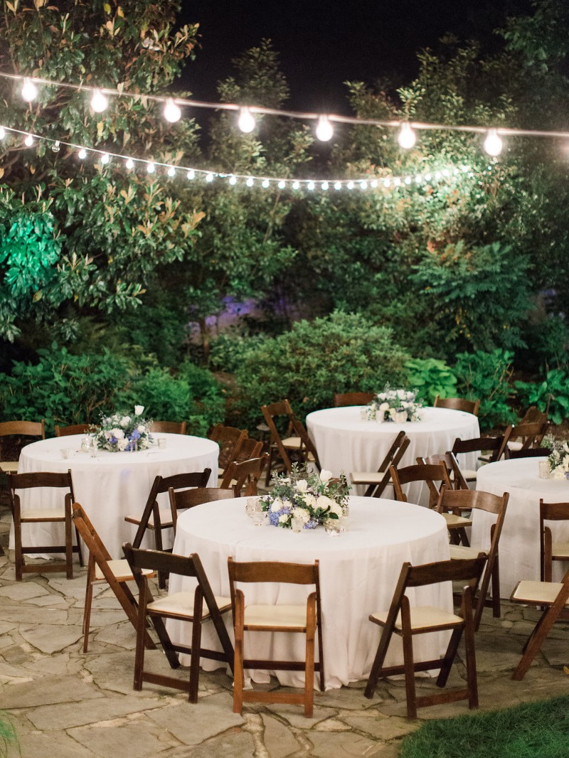 String lights never go out of style! This Southern garden wedding at Nashville wedding venue CJ's Off the Square was so romantic.
