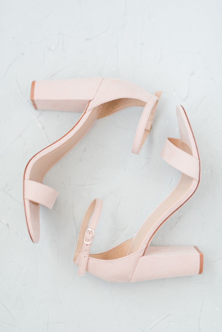 Blush heels for the bride