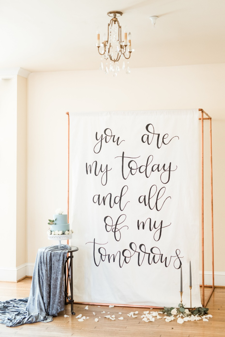 Calligraphy quote backdrop