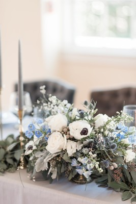 Natural Shades of Blue and Gold Boho Wedding Inspiration