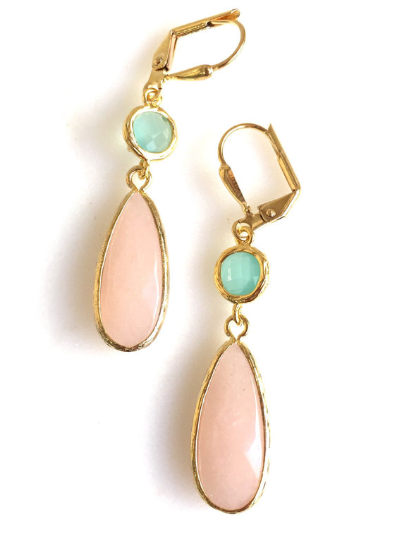 These earrings are soft and feminine yet have some length to them, making them stand out. They are lovely for every day wear and also