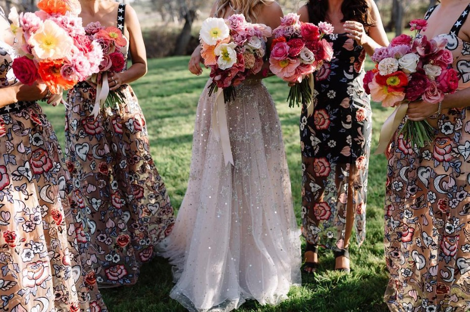 Eclectic bridesmaid dresses
