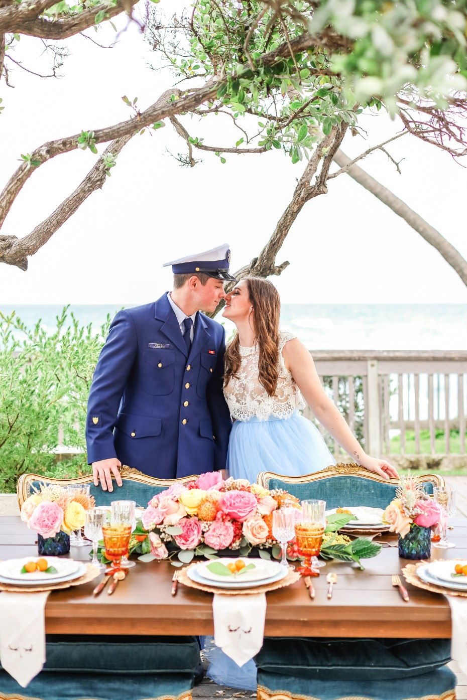 Colorful coastal wedding ideas from Florida