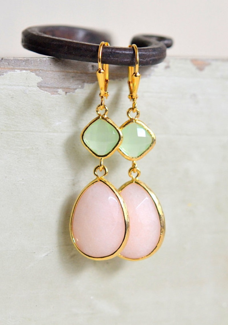 These earrings are soft and feminine yet have some length and size to them, making them stand out. They are lovely for every day wear