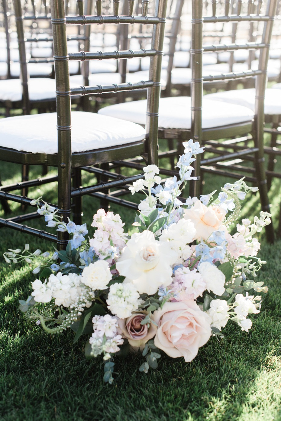 Muted color ceremony blooms