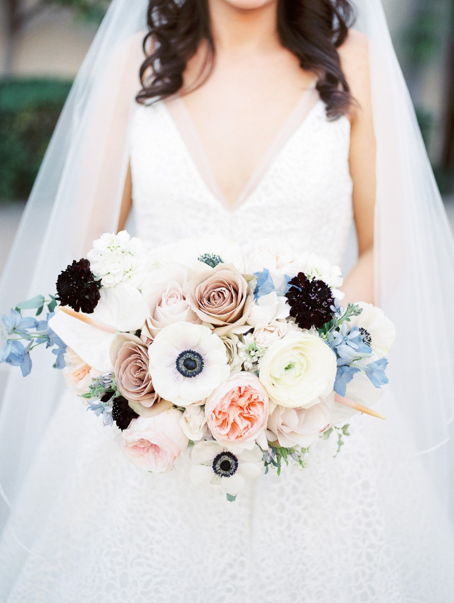 Muted colors wedding bouquet