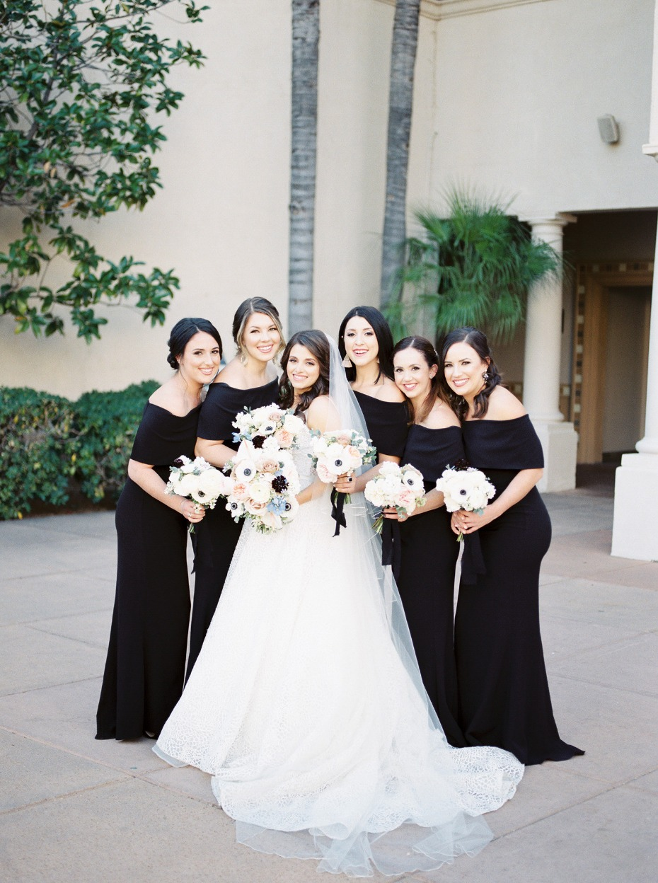 Vince Camuto bridesmaid dresses in black