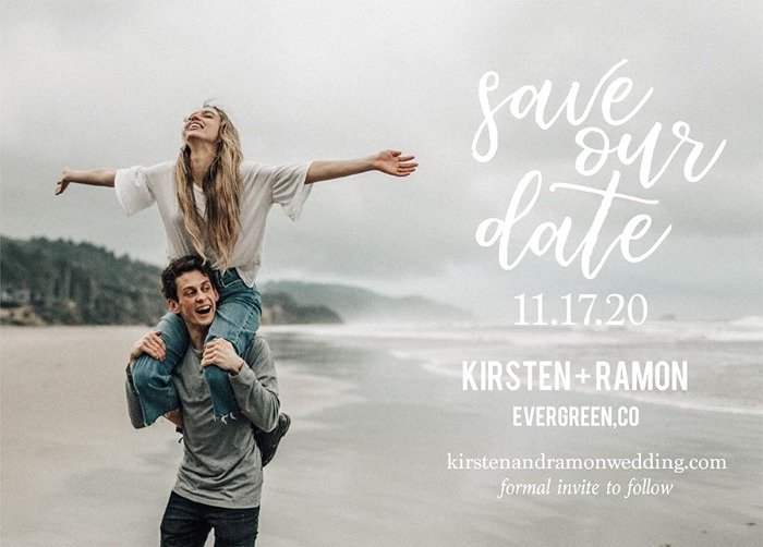 Print: Free Modern Photo Save The Date Card