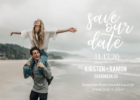 Free Modern Photo Save The Date Card