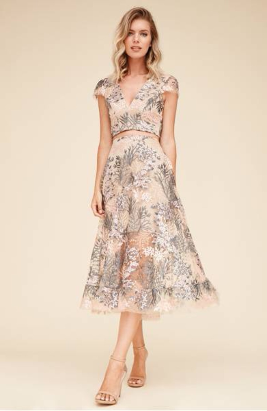 Nordstrom Juliana Embroidered Two-Piece Dress