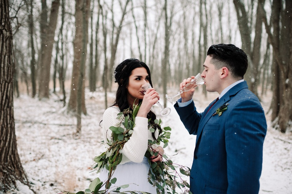 Cheers to this winter wedding inspiration