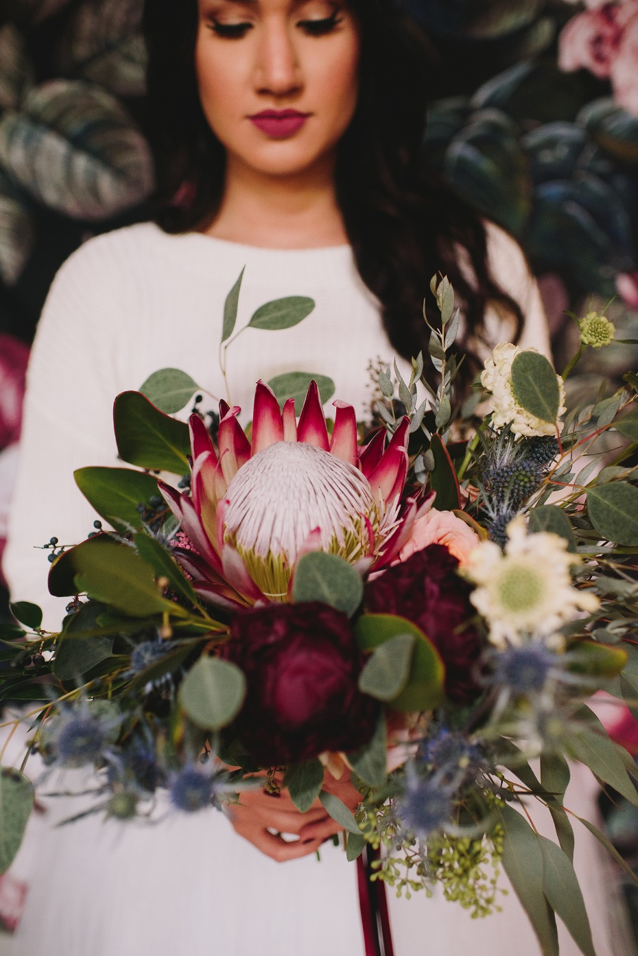 Giant protea bouquet