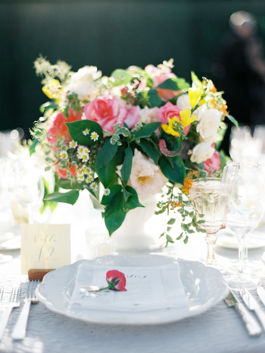 wedding place setting for your garden reception