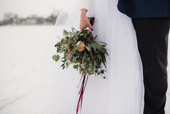 Snowy Winter Wedding Inspiration in the Woods