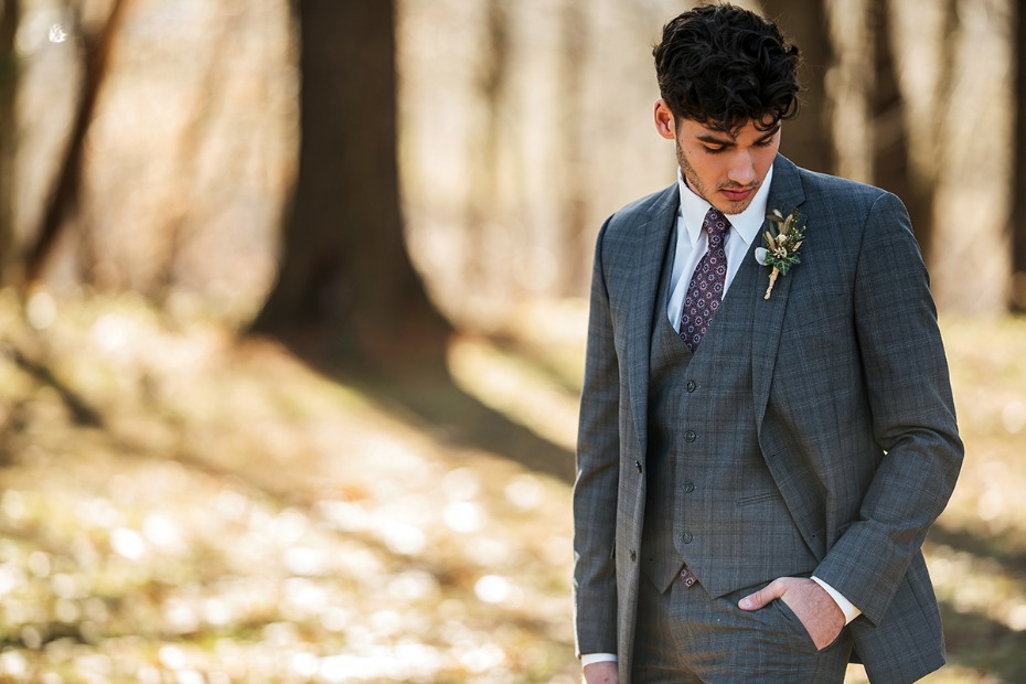 vintage groom look