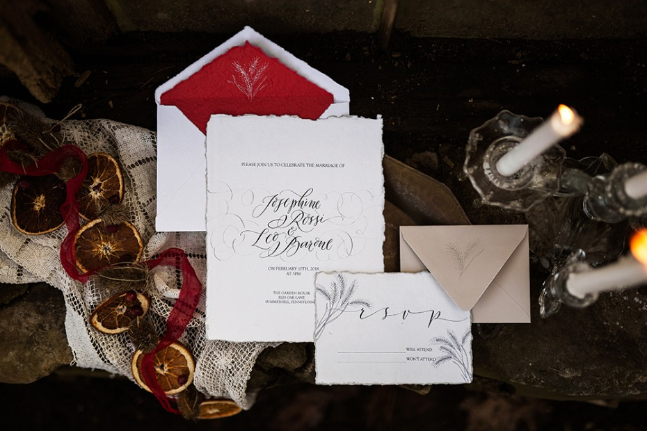 recycled wedding invite