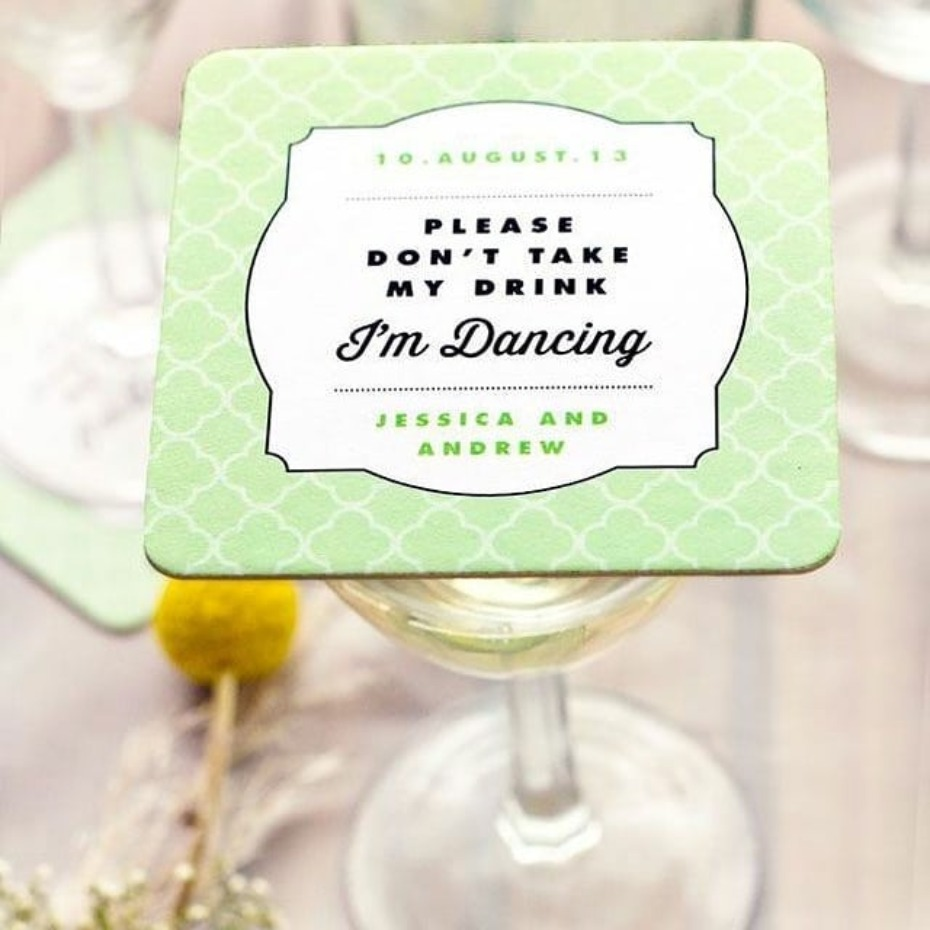 Wedding Bar Coasters