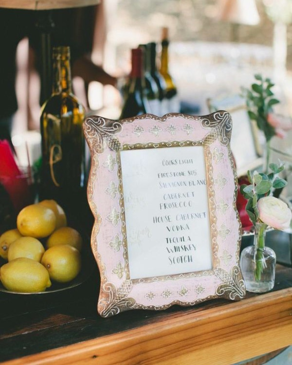 Wedding Bar Photo by One Love Photography