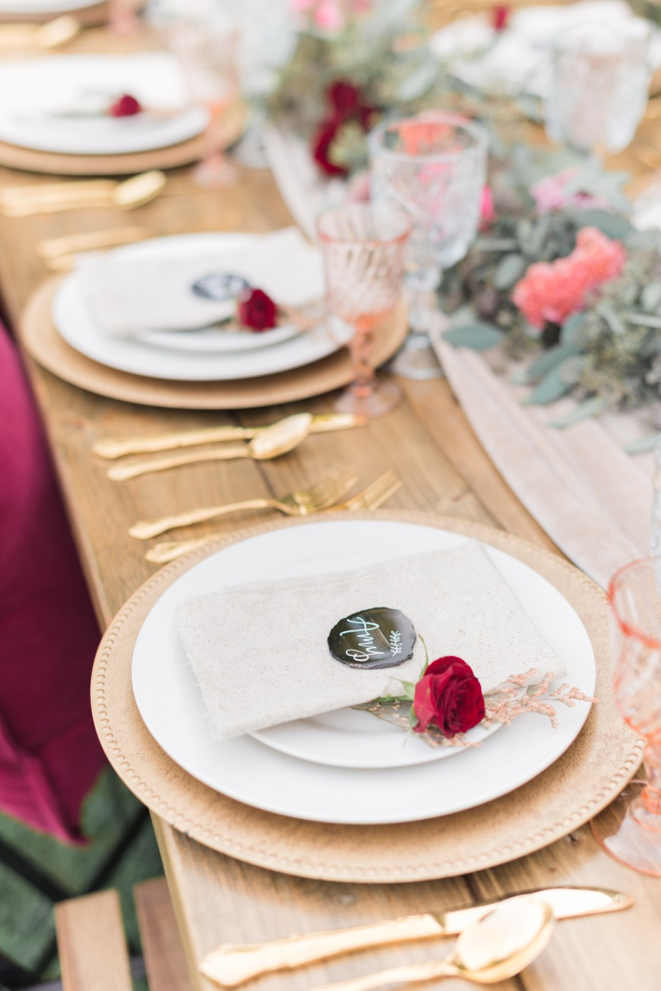 perfect Fall inspired wedding table