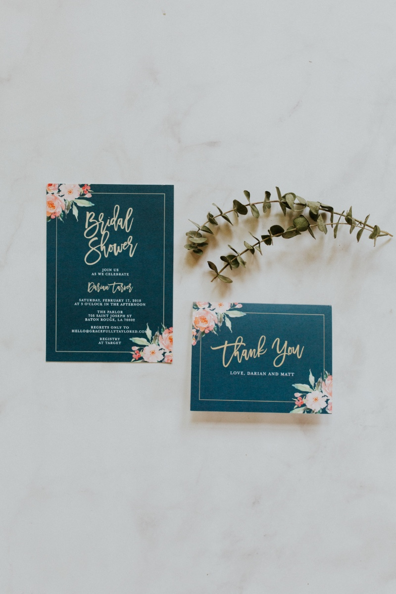Check out this lovely set of bridal shower invitations and matching thank you notes perfect for your upcoming spring bridal festivities