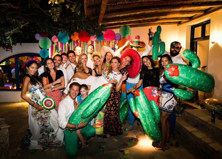 Fun pre-wedding fiesta in Greece