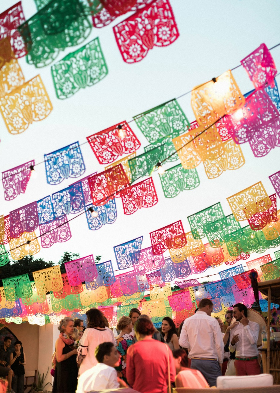 colorful papel picado banners