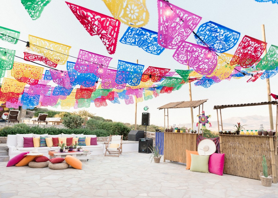 Pre-wedding fiesta decor