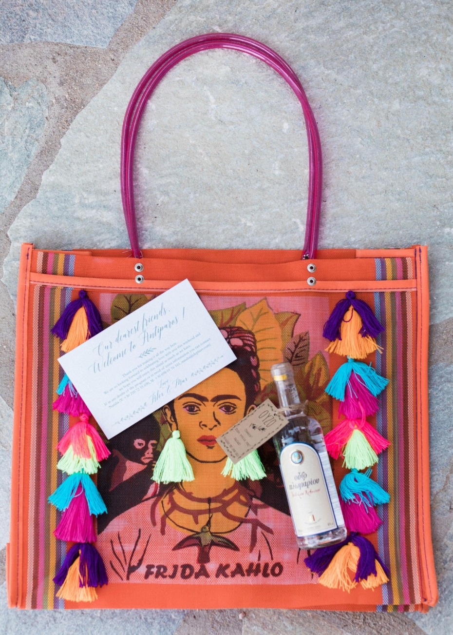 Frida tote favor for guests