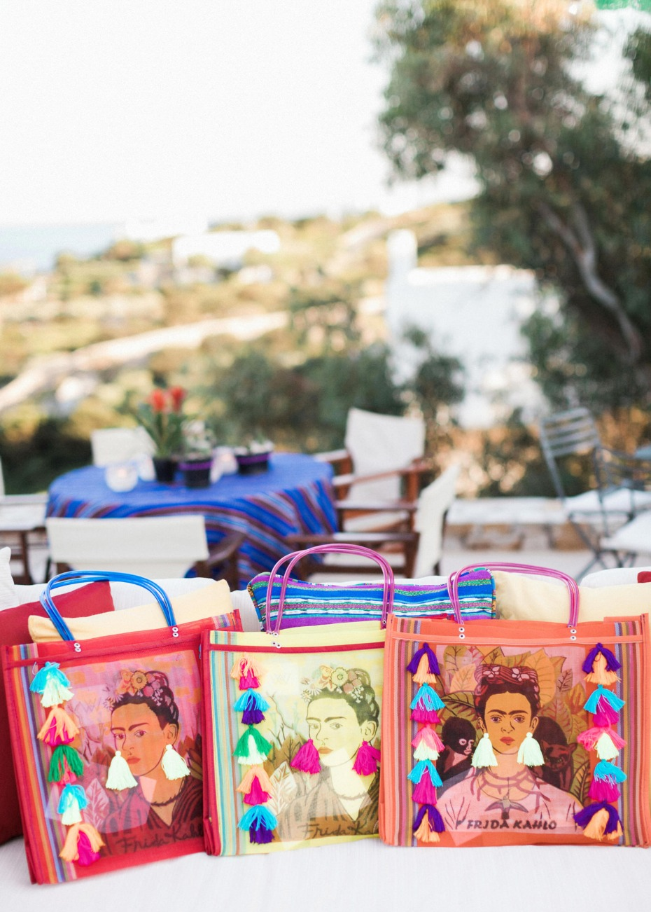 Frida tote favors for guests
