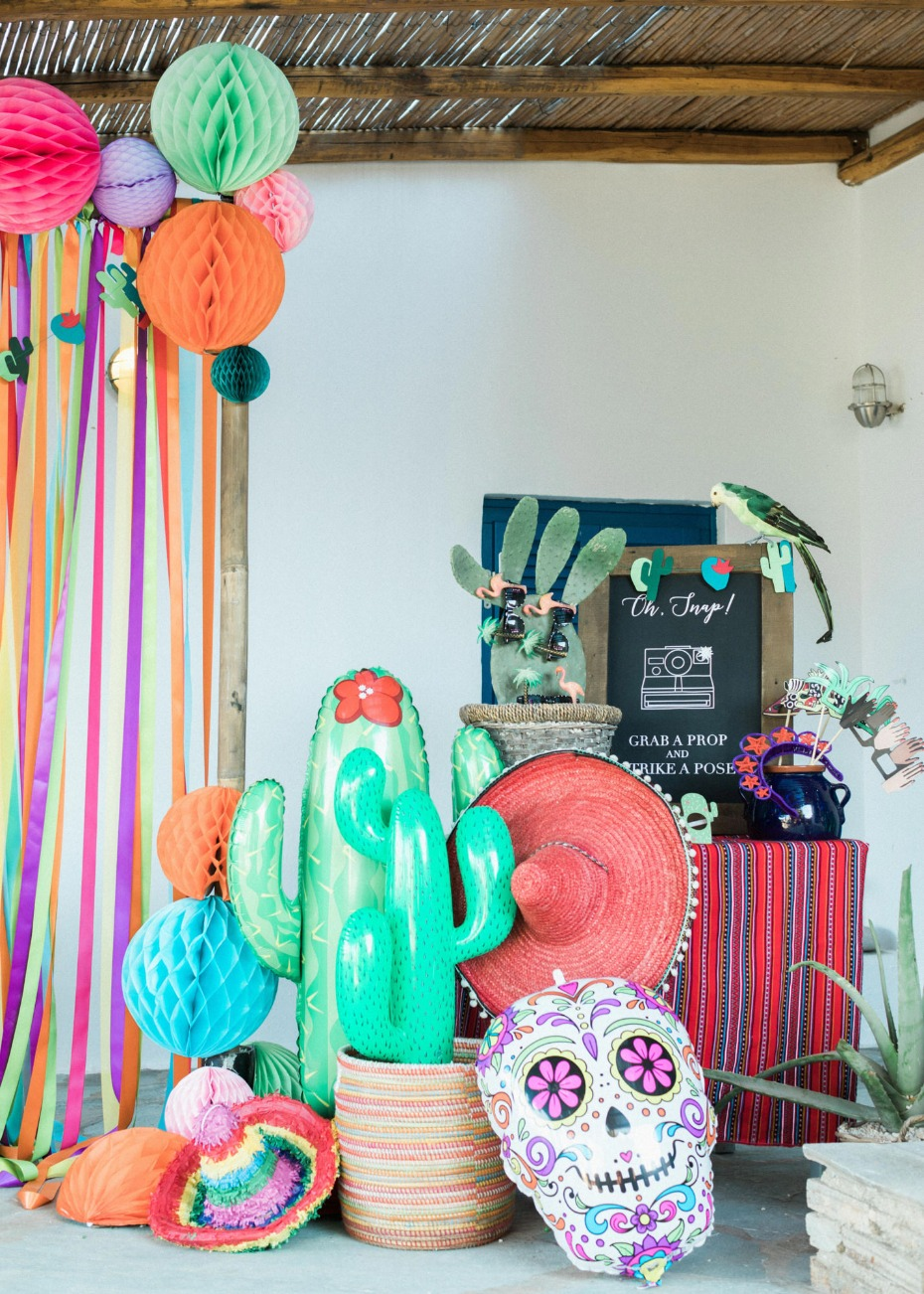 Fiesta themed photo booth