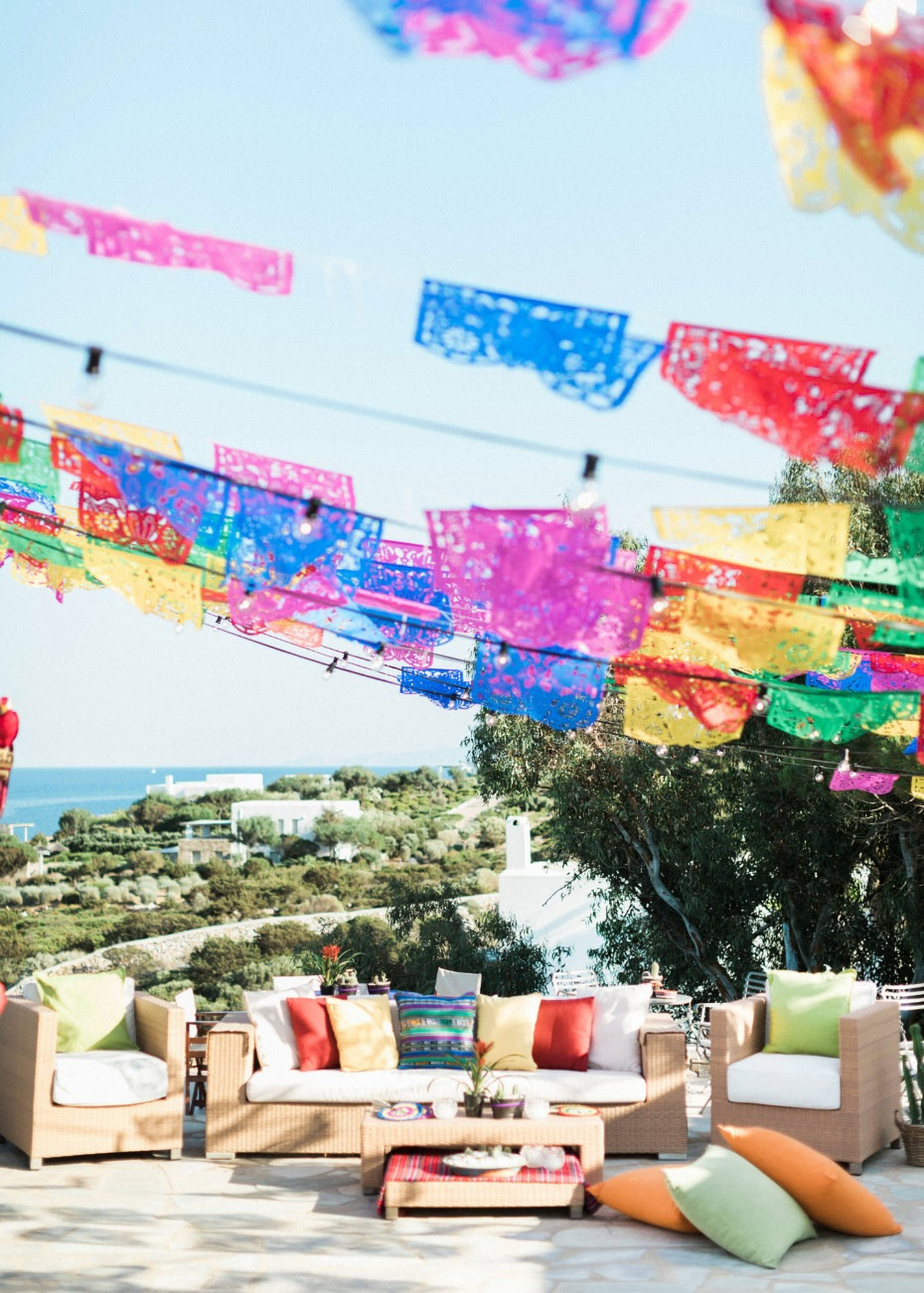 Pre-wedding Mexican fiesta decor