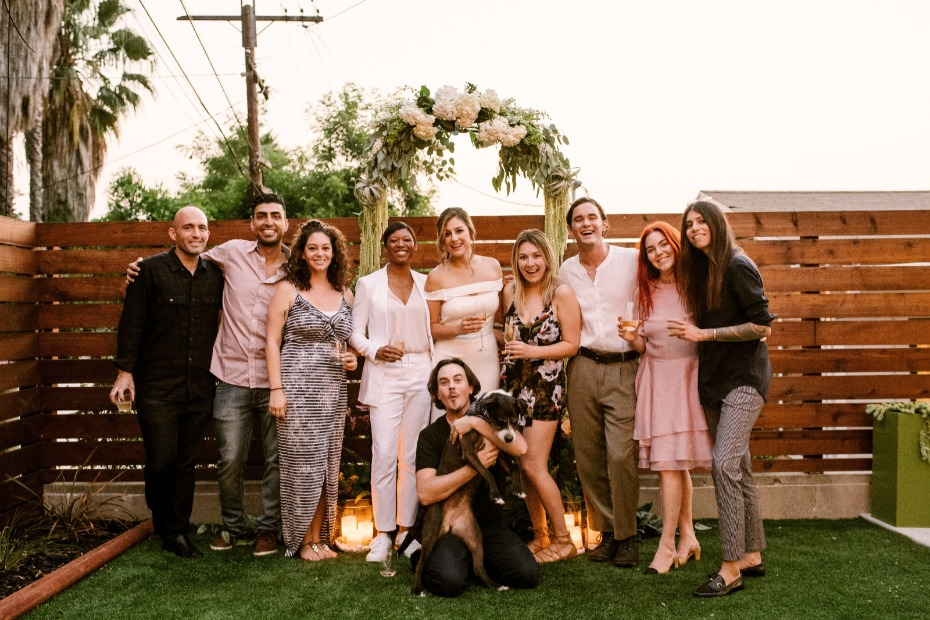 a micro wedding in your own backyard