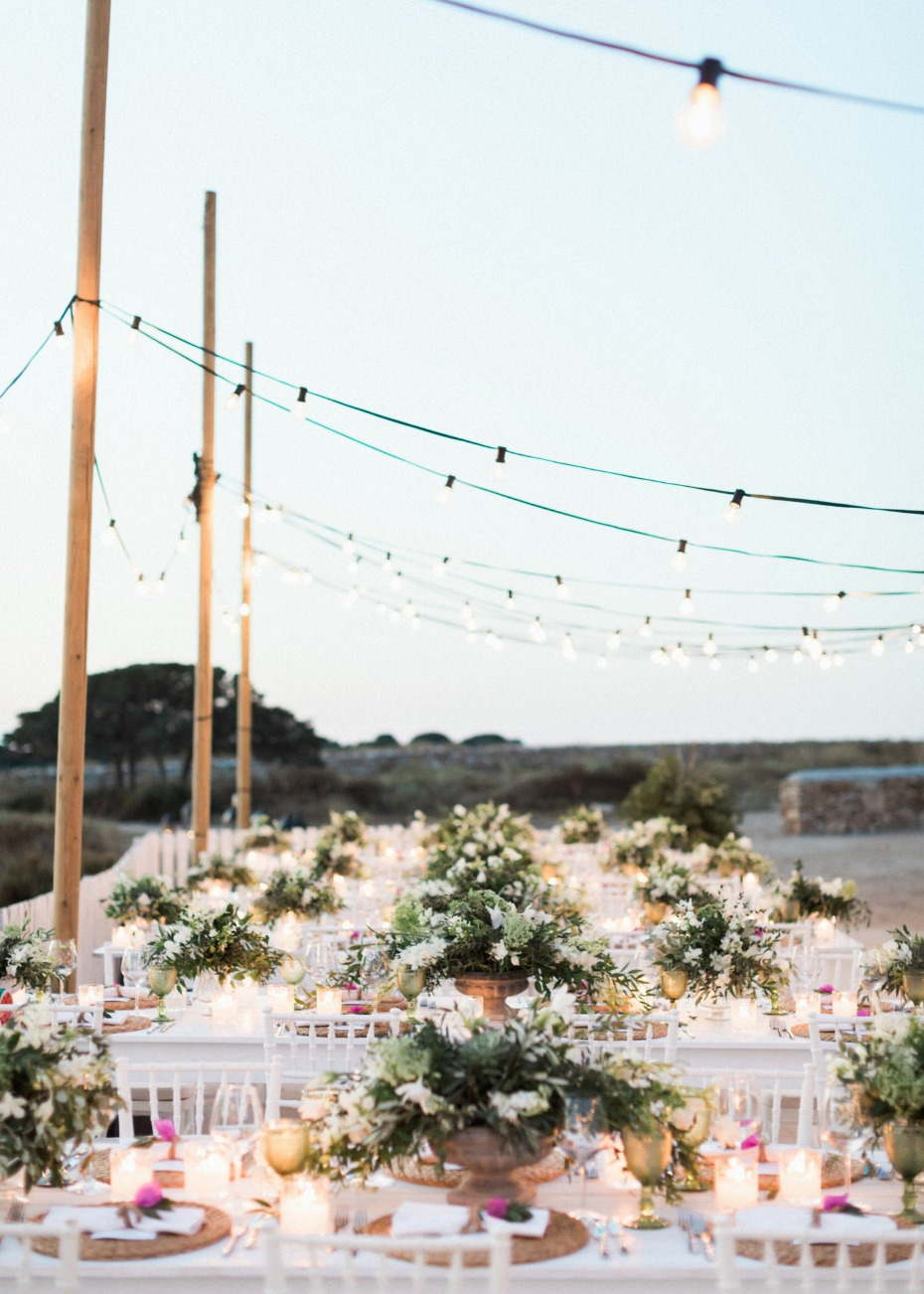 Romantic reception lighting idea