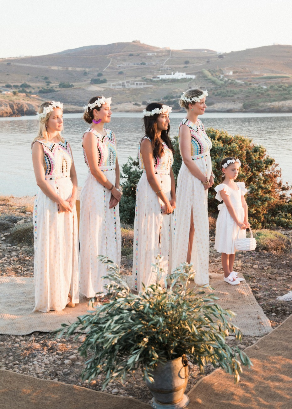 Bridesmaids in Greece