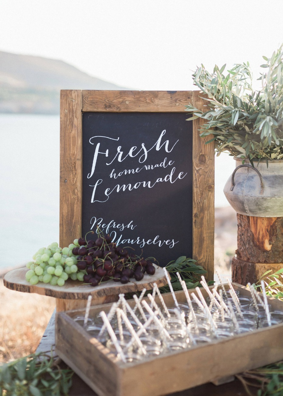 Lemonade wedding sign