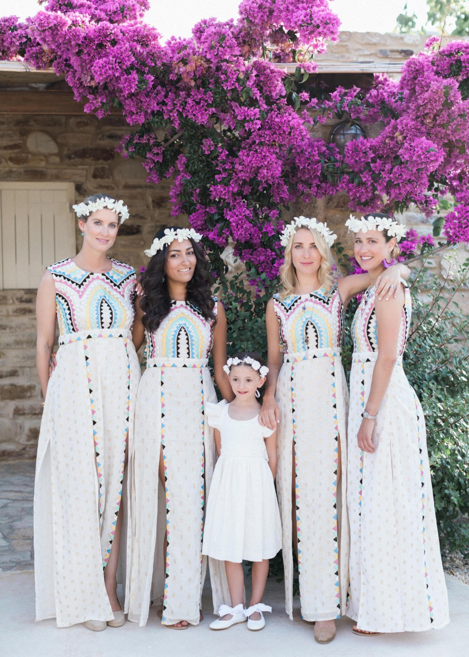 Colorful maxi wedding dresses