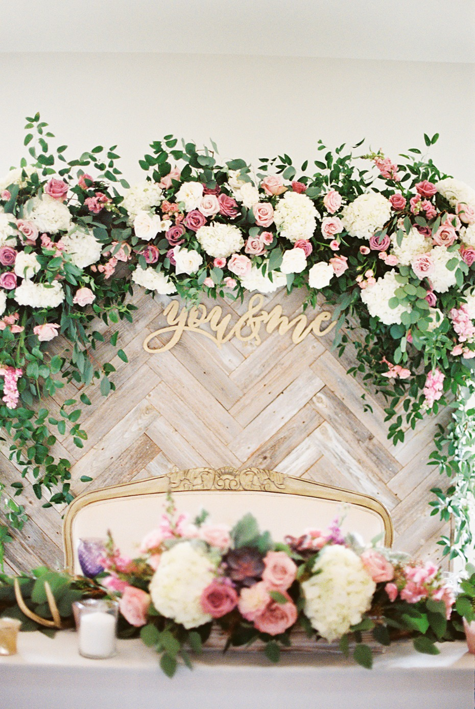 Sweetheart table backdrop