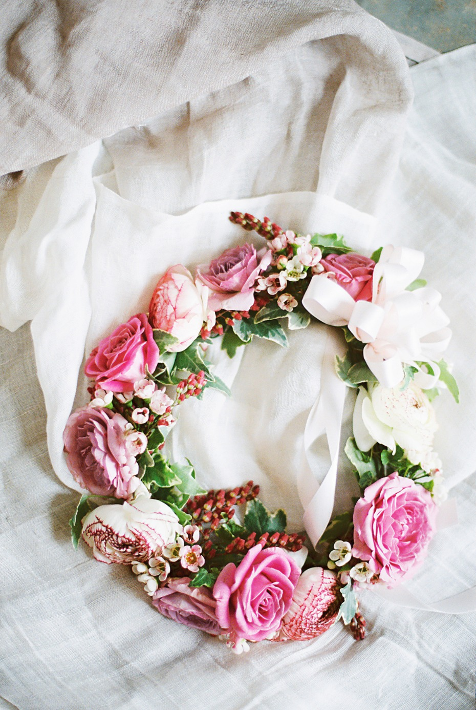 Flower girls floral crown