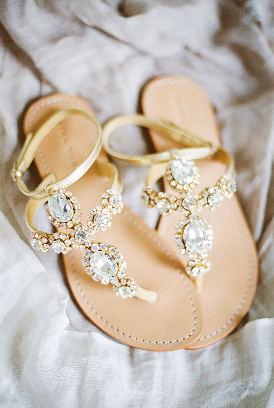 Sparkly sandals for the bride