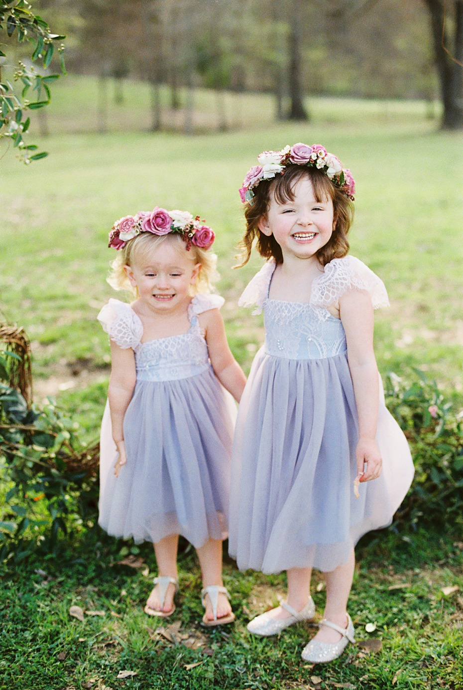 Flower girls in lavender