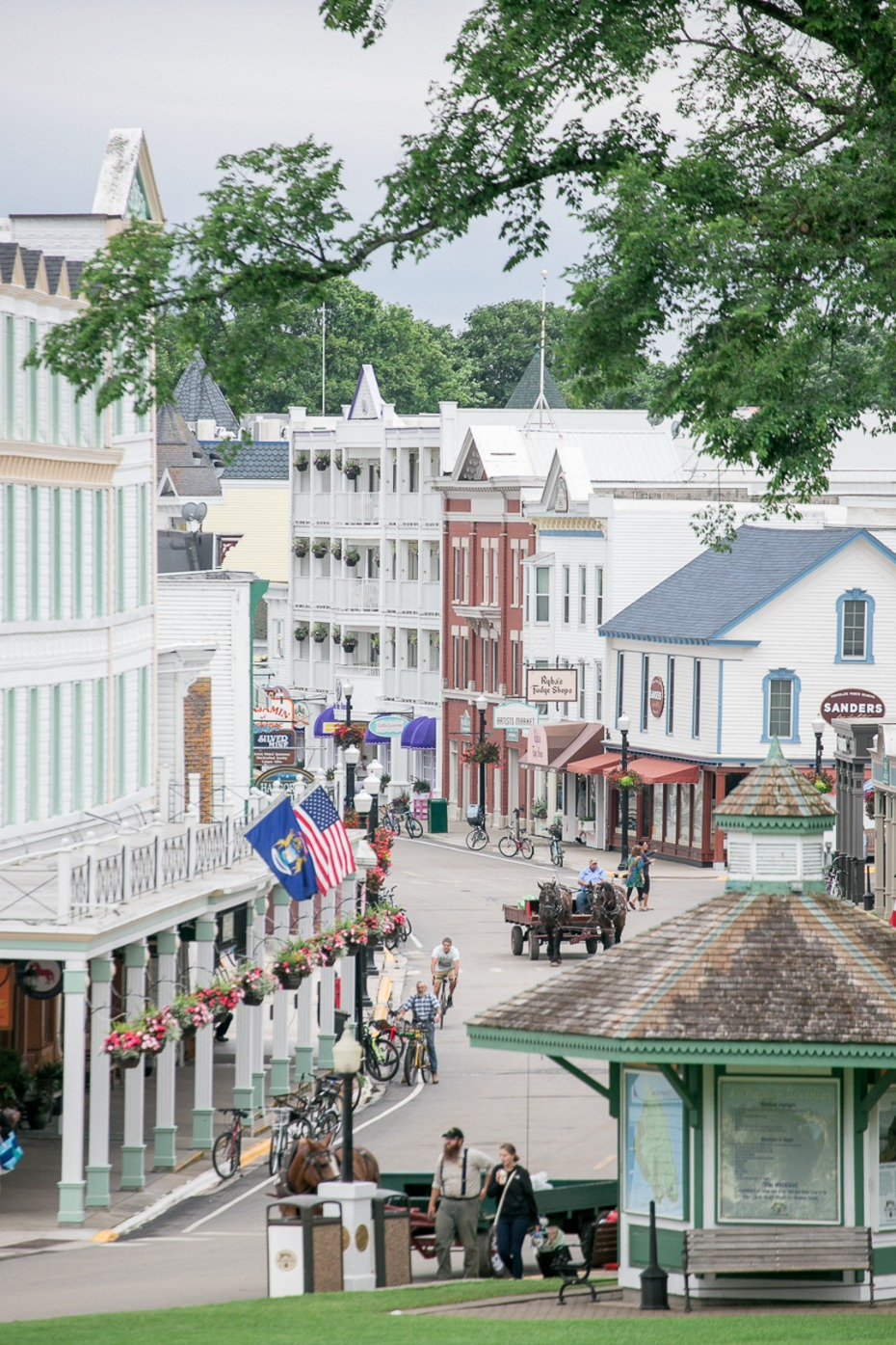 cute little downtown of Mackinac Island