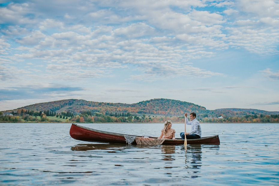 engagement ideas on in a canoe